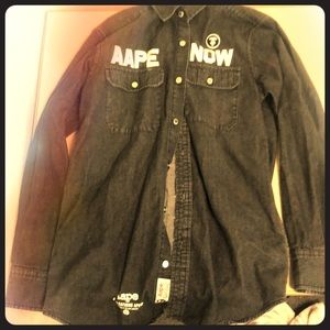 Bathing Ape Long Sleeved button up